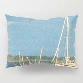 Sailboat Moored in Newport Pillow Sham