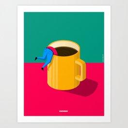i need a coffee Art Print