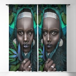 Woman of Paradise and Silver Blackout Curtain