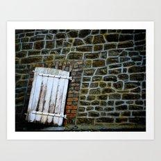 cottage door Art Print