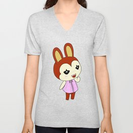 Bunnie Animal crossing Unisex V-Neck
