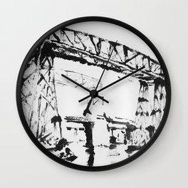 Puente en la Boca Wall Clock