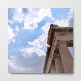 Sky above Parthenon Metal Print