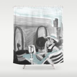 """""""roof rights"""" Shower Curtain"""