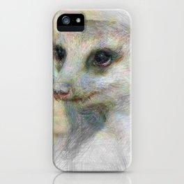 Artistic Animal Meerkat iPhone Case