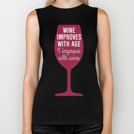Wine Improves With Age Biker Tank