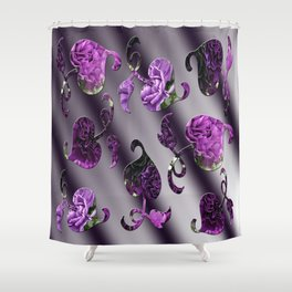 Shades of Purple Carnations Vines Shower Curtain