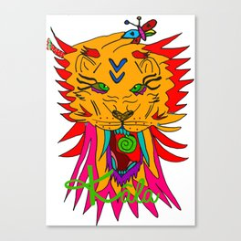 wizard lion Canvas Print