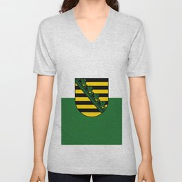 flag of Sachsen (historic state) Unisex V-Neck