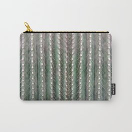 CACTUS NEEDLES PATTERN, closeup green succulent Carry-All Pouch