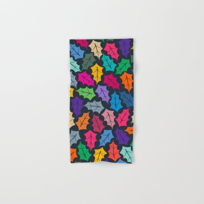 Colorful leaves III Hand & Bath Towel