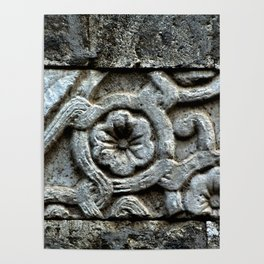 Medieval Carved Stone Wall Poster