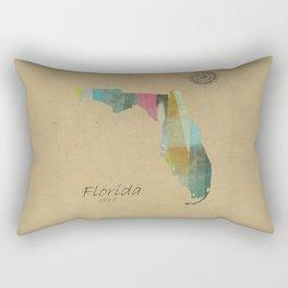 Florida state map Rectangular Pillow