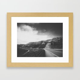 Utah Desert Road-B&W Framed Art Print