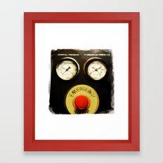 emergency stop Framed Art Print