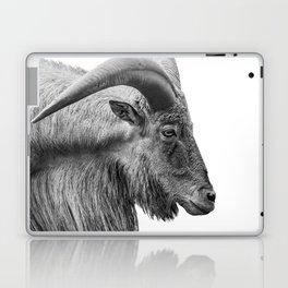 Minimalism Animal Photography | Mountain Goat | Black and White Minimal Art Laptop & iPad Skin