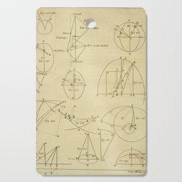 Jérôme Lalande's Astronomie (1771) - Geometric Calculations regarding Planetary Bodies 8 Cutting Board
