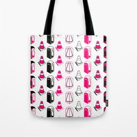 bible verses Tote Bags featuring Phone verses Cone Red by Sketch.inc