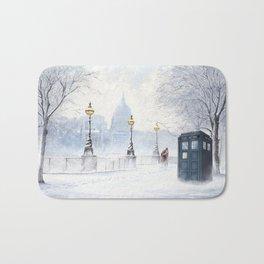 Tardis Snow Romantic Bath Mat