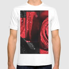 Rose MEDIUM White Mens Fitted Tee