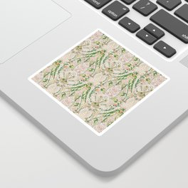 Green Pink Leaf Flower Paisley Sticker
