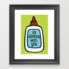 sticking with you Framed Art Print