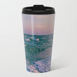 Sunset Crashing Waves Travel Mug
