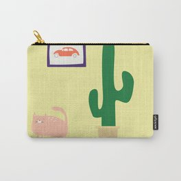 Cat, Car, Cactus Carry-All Pouch