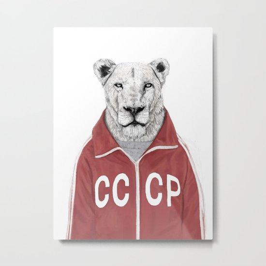 Soviet lion Metal Print