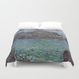Belle-Ile by Claude Monet Duvet Cover