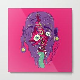 Face Melter Metal Print
