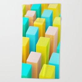 Color Blocking Pastels Beach Towel