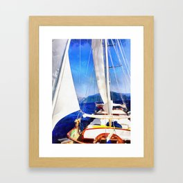 Land Was Created For Boats To Visit Framed Art Print