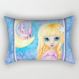 Castle Dreams Girl Rectangular Pillow