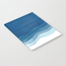 Watercolor blue waves Notebook