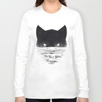 sale Long Sleeve T-shirts featuring Wolfy by Dan Burgess
