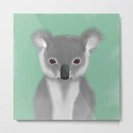 Baby Koala Bear Metal Print