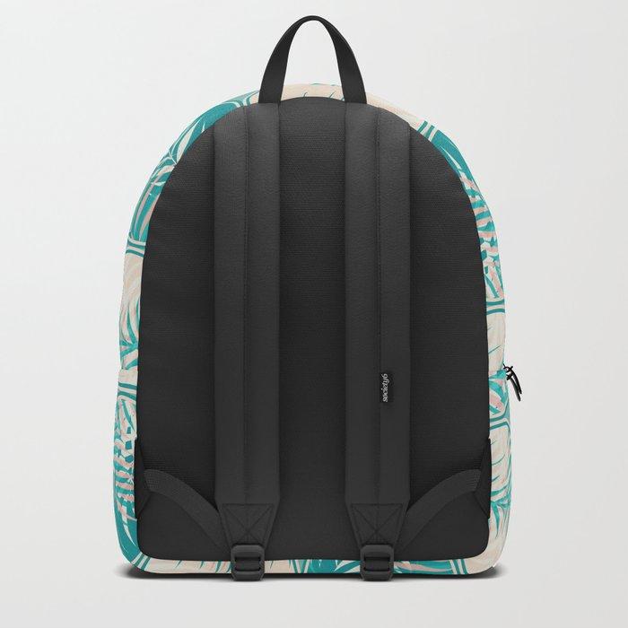 Cyan Tropical Coins #society6 #decor #buyart Backpack