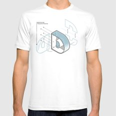 The Exploded Alphabet / D MEDIUM White Mens Fitted Tee