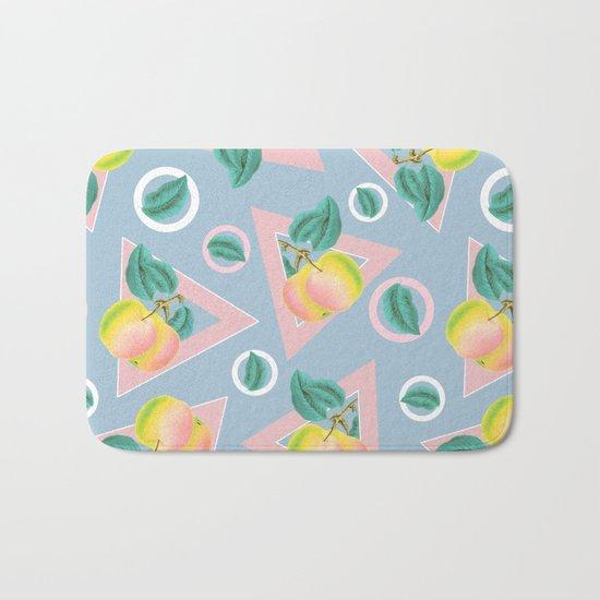 Geometric and Apple Pattern Bath Mat