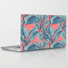 Pink Exotic Tropical Banana Palm Leaf Print Laptop & iPad Skin