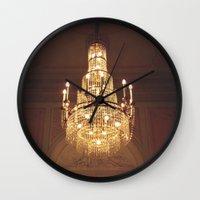 chandelier Wall Clocks featuring chandelier by oanauciuf