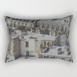 city roofs Rectangular Pillow
