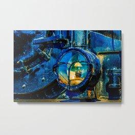 The Headlight Of An Ancient Steam Locomotive Engine Metal Print