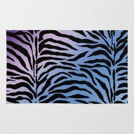 Purples and blues Zebra print Rug