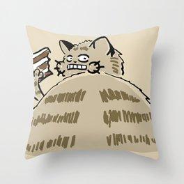 Fat Cat Wants Treats Throw Pillow