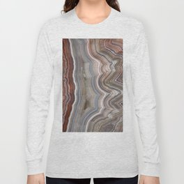 Striped Agate Crystal Long Sleeve T-shirt