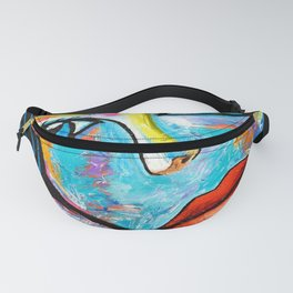 Woman with blue eyes Fanny Pack