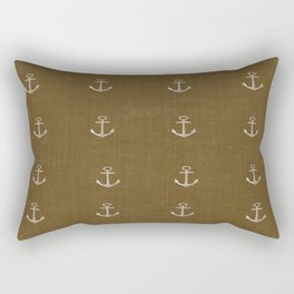 Anchors Away - Brown Rectangular Pillow
