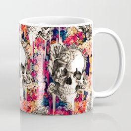 You are not here Day of the Dead Rose Skull. Coffee Mug